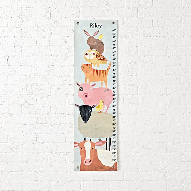 Barnyard Animals Personalized Growth Chart