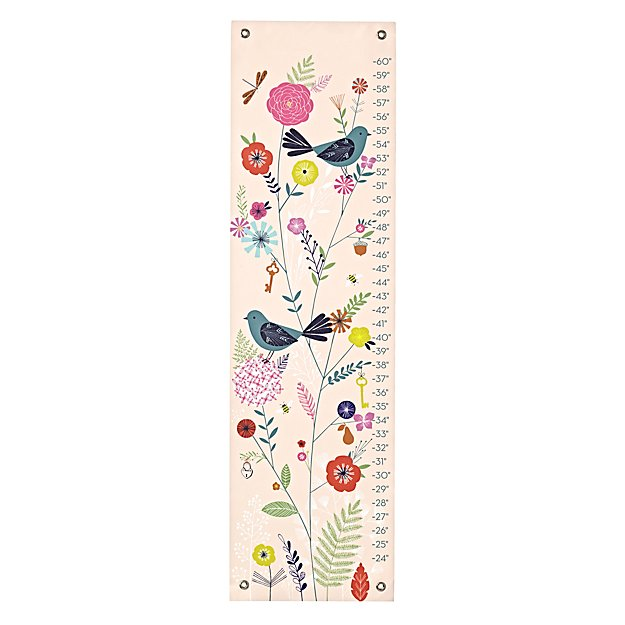 Birds and blooms growth chart the land of nod