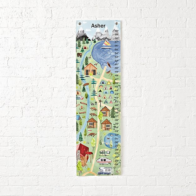 Campground Personalized Growth Chart