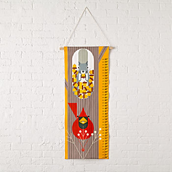 Charley Harper Cardinal and Squirrel Growth Chart
