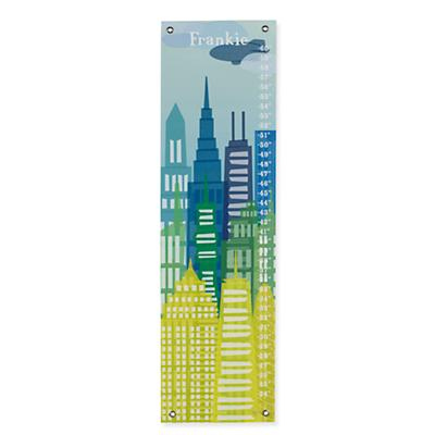 Personalized City Skyline Growth Chart