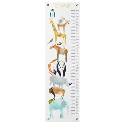 Personalized Animal Friends Growth Chart