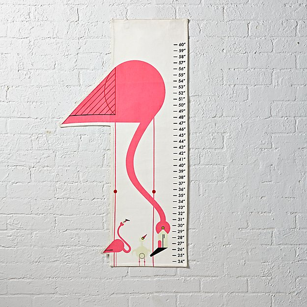 Charley Harper Growth Chart (Flamingo)