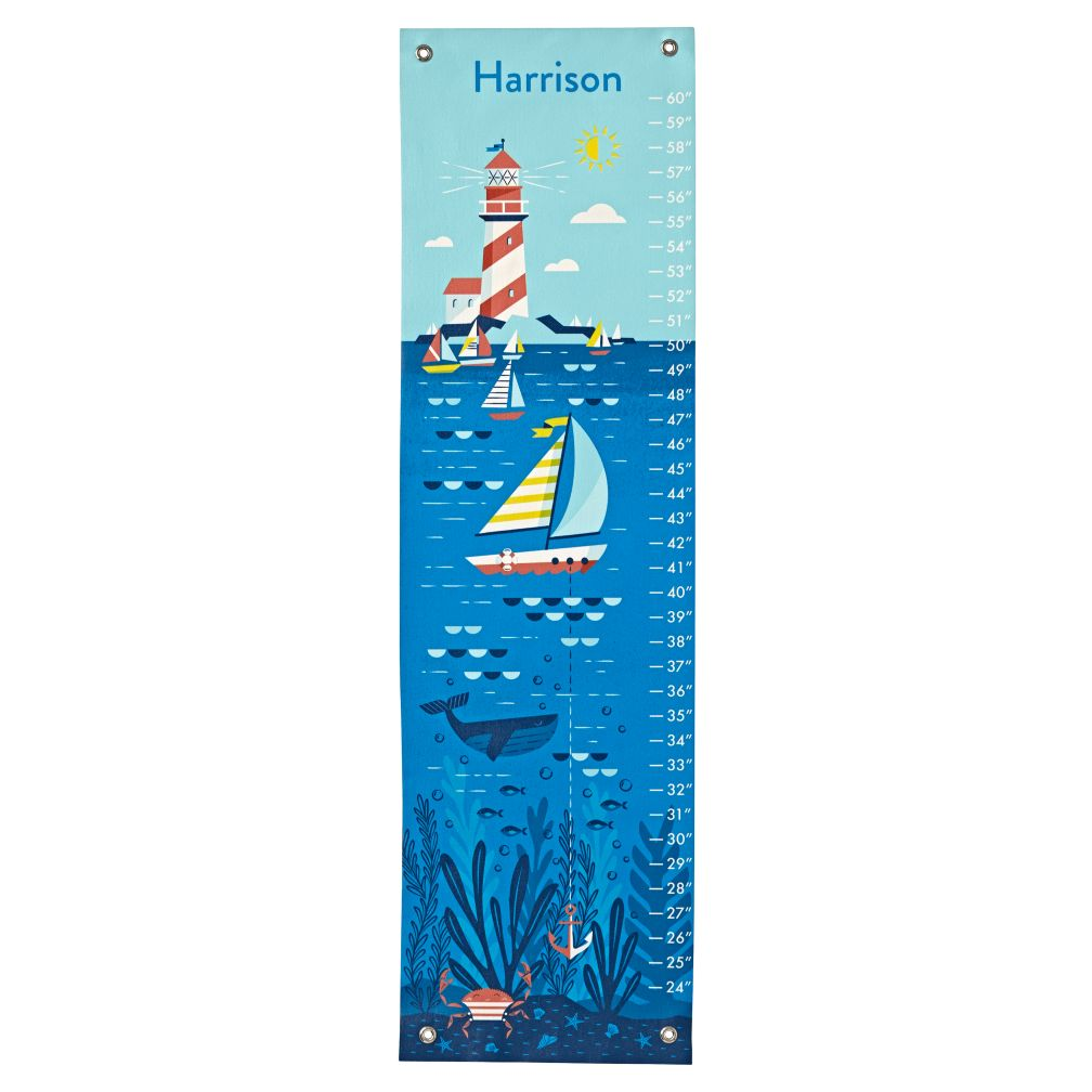 Personalized Nautical Growth Chart