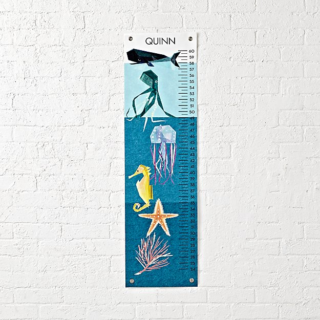 Sea Creatures Personalized Growth Chart