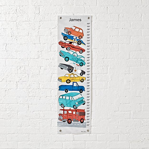 Vintage Cars Personalized Growth Chart