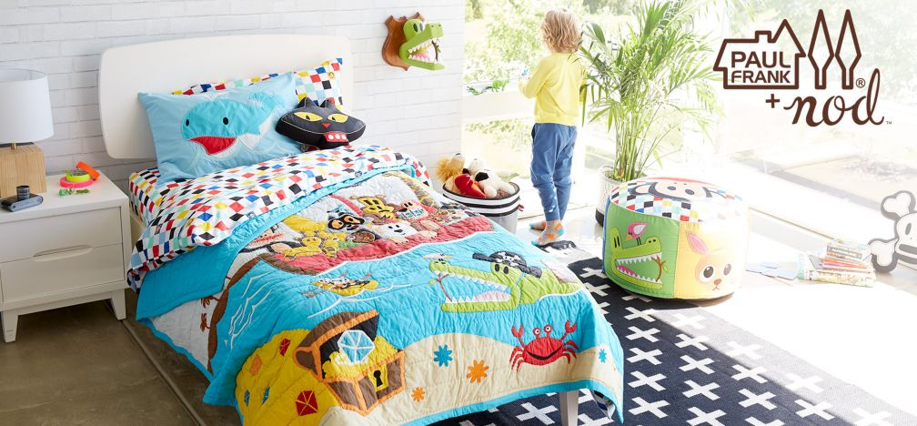 join julius the monkey and his friends as they explore land and sea in our exclusive paul frank nod collection with kids furniture stores st louis