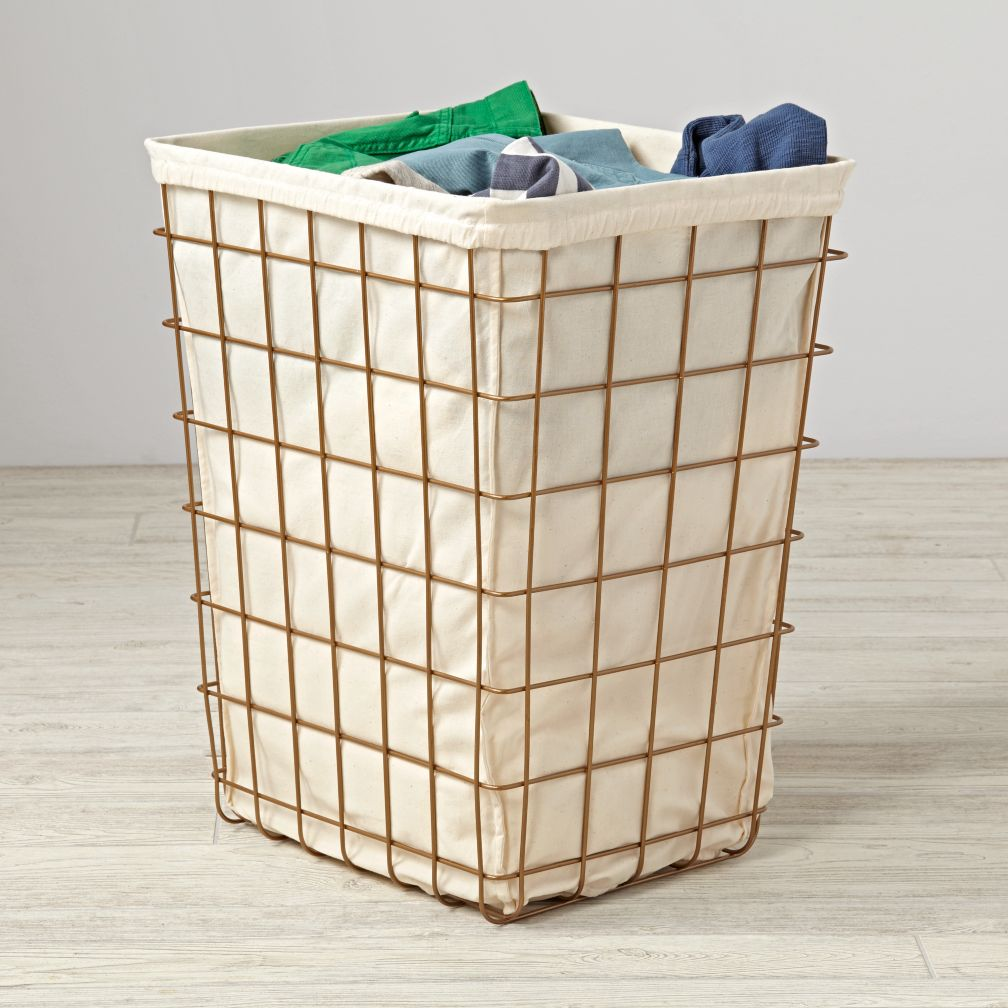 Gold Index Laundry Hamper The Land Of Nod