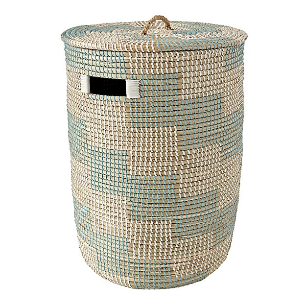 Aqua seagrass hamper the land of nod - Superhero laundry hamper ...
