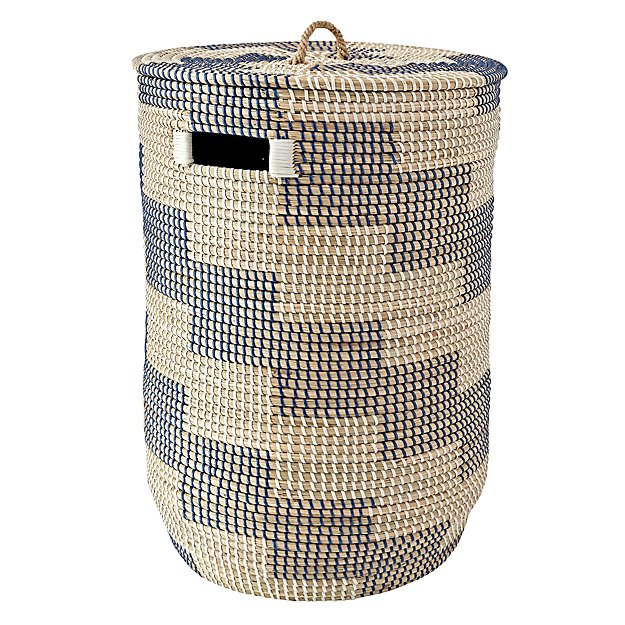 Dark blue seagrass hamper the land of nod - Superhero laundry hamper ...
