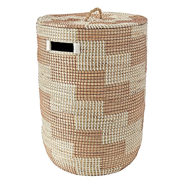 Rose gold seagrass hamper the land of nod - Superhero laundry hamper ...
