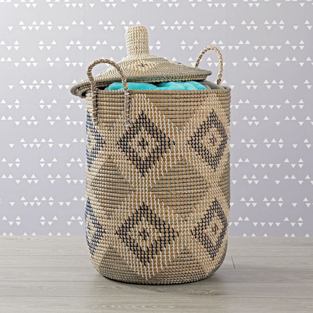 kids hampers  closet storage  the land of nod - seagrass hamper