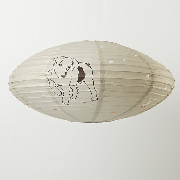 Oval Dog Animal Lantern