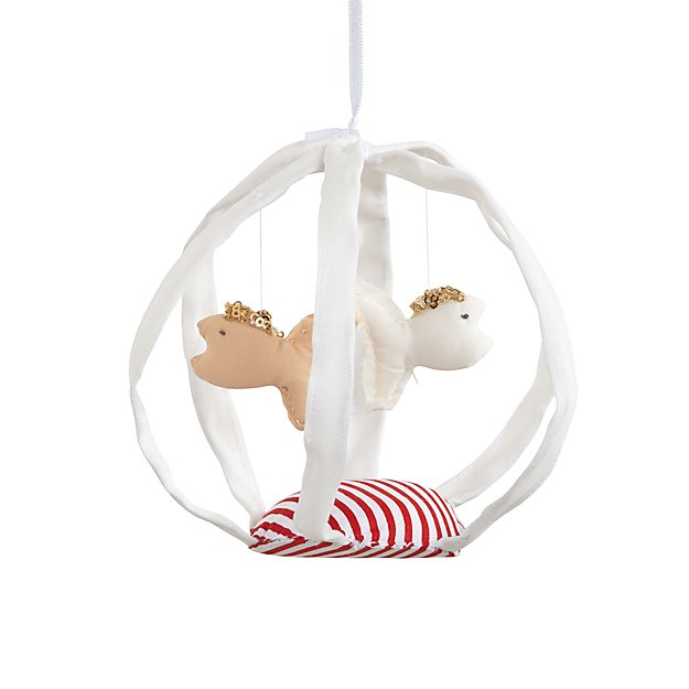 Handcrafted Hanging Decor (White Fishbowl)
