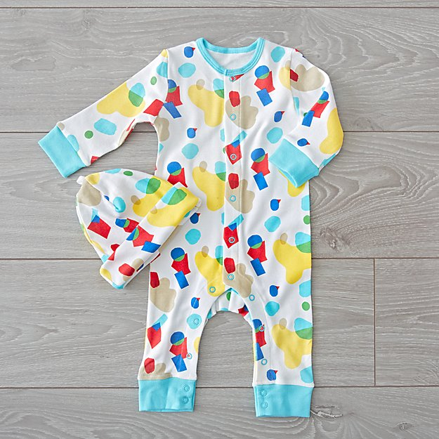 Organic Romper and Hat Set (0-3 Months)