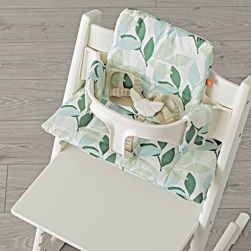 tripp trapp green forest cushion from stokke the land of nod. Black Bedroom Furniture Sets. Home Design Ideas
