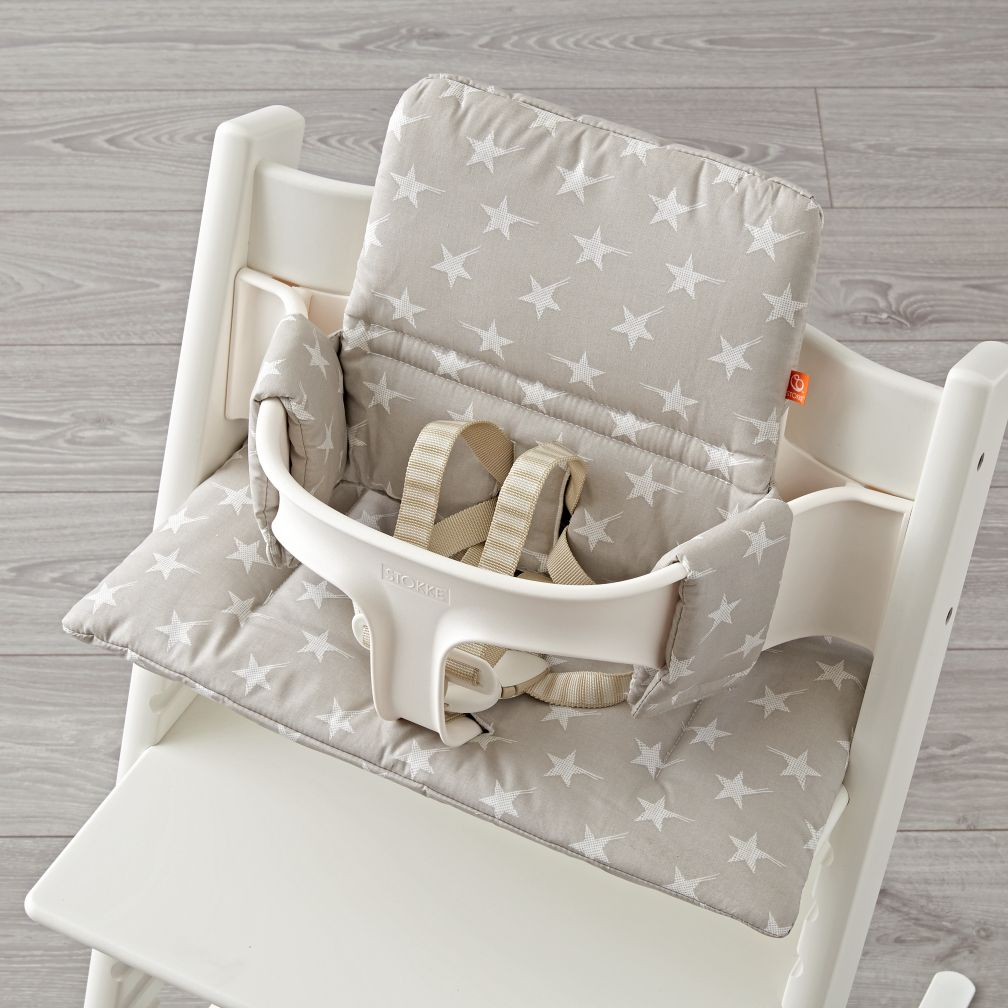 grey star stokke tripp trapp cushion the land of nod. Black Bedroom Furniture Sets. Home Design Ideas