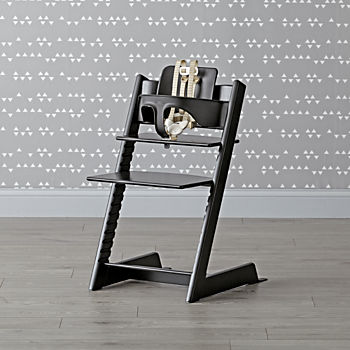 Black Tripp Trapp® Chair and Baby Set™ from Stokke®
