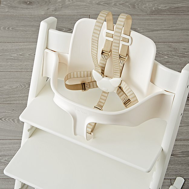 white tripp trapp baby set from stokke the land of nod. Black Bedroom Furniture Sets. Home Design Ideas