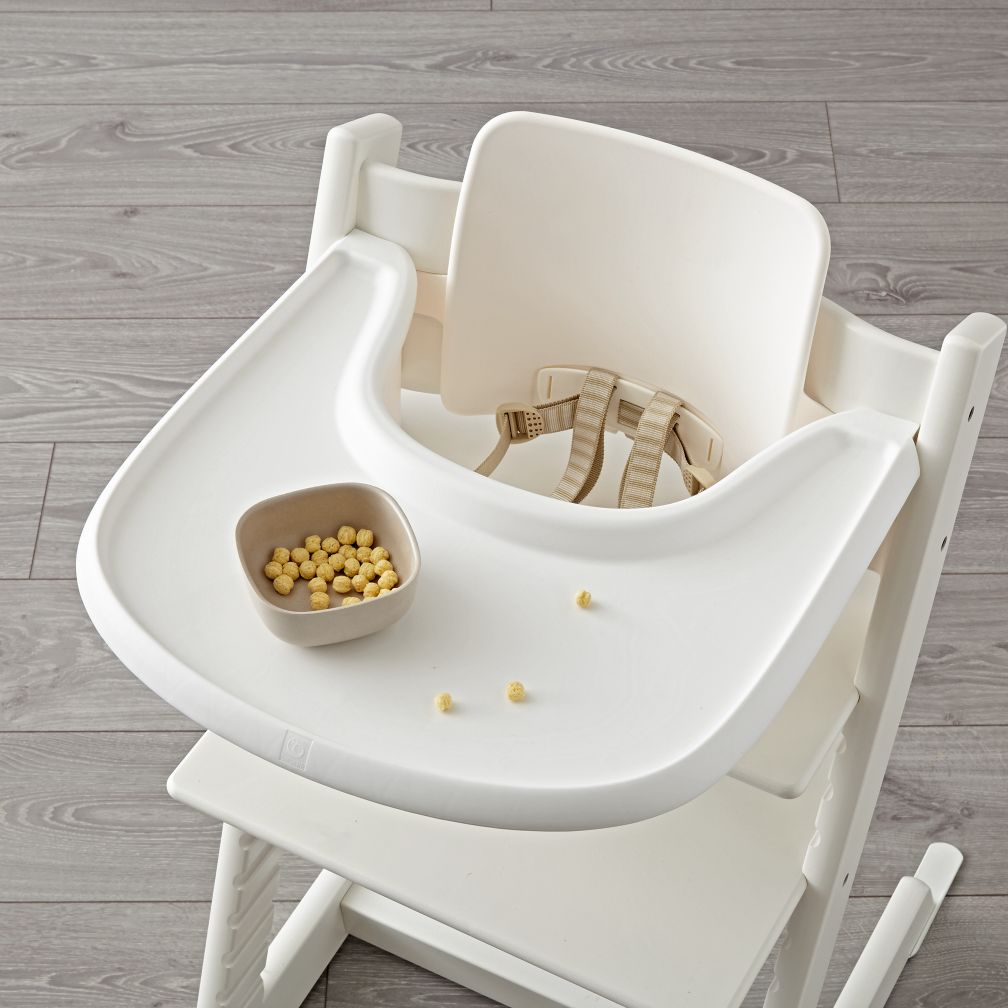 white stokke tripp trapp tray the land of nod. Black Bedroom Furniture Sets. Home Design Ideas