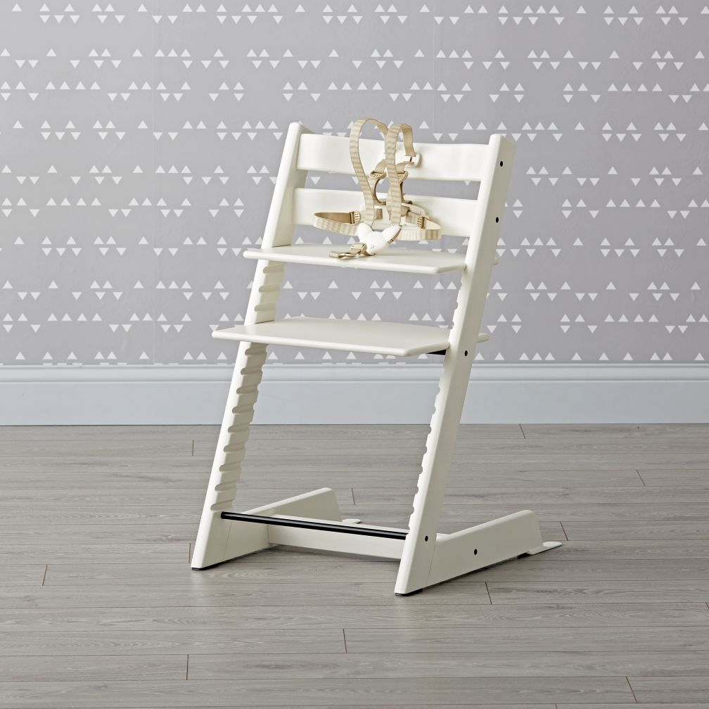 stokke tripp trapp high chair in white the land of nod. Black Bedroom Furniture Sets. Home Design Ideas