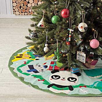 merry mascot tree skirt - Christmas Tree Skirts