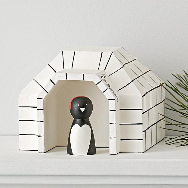 Penguin Igloo Village Decor