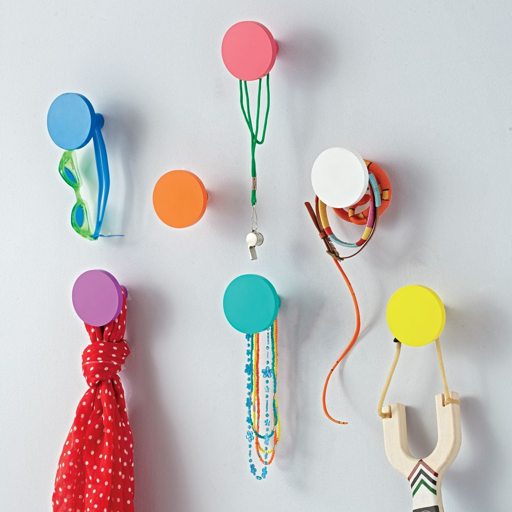 Kids Bedroom Hooks kids wall hooks: round wall knobs | the land of nod