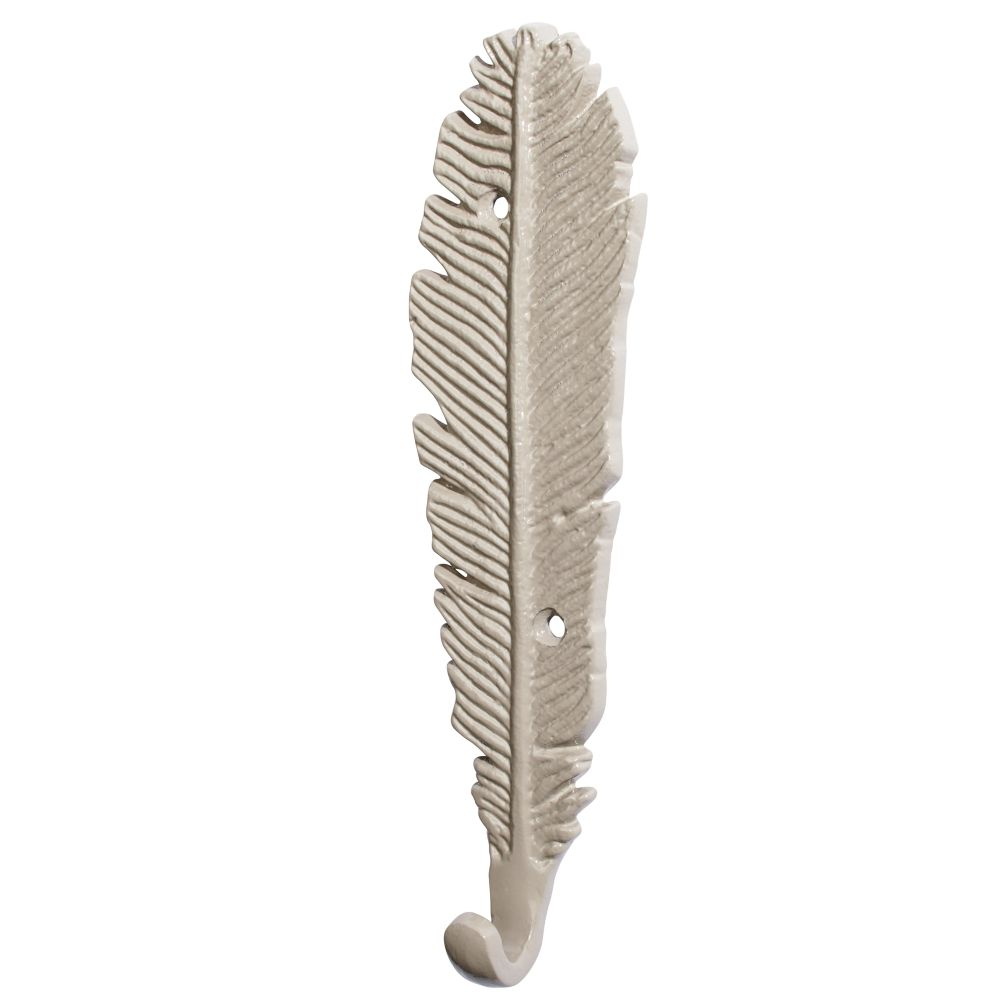 Fine Feathered Wall Hook (Grey)