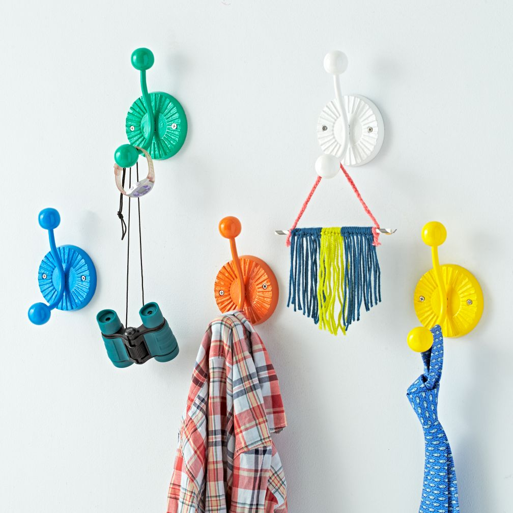 awesome wall mounted funky coat hooks climbing men different colors fun  home accessories
