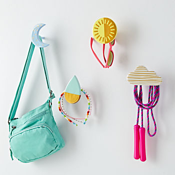 Colorful Wall Hooks kids wall hooks & coat hooks | the land of nod
