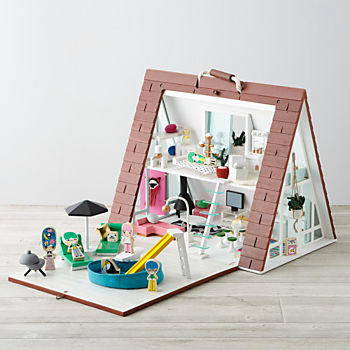 A-Frame Dollhouse Deluxe Set