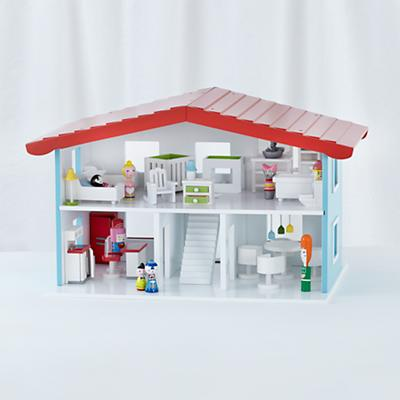 Cottage Dollhouse and Furniture Set