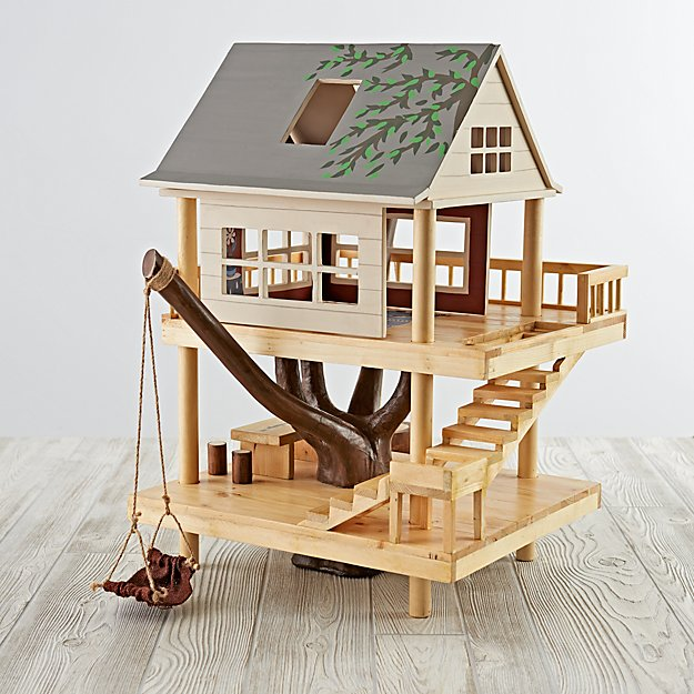 Treehouse play set the land of nod for Kids wooden treehouse