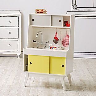 Wooden fridge play food set the land of nod for Kitchen set rate