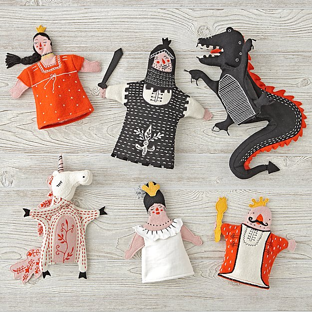 Set of 6 Medieval Hand Puppets