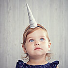 Silver Unicorn Headband.