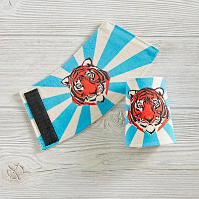 Lovelane Tiger Cuffs (Blue)