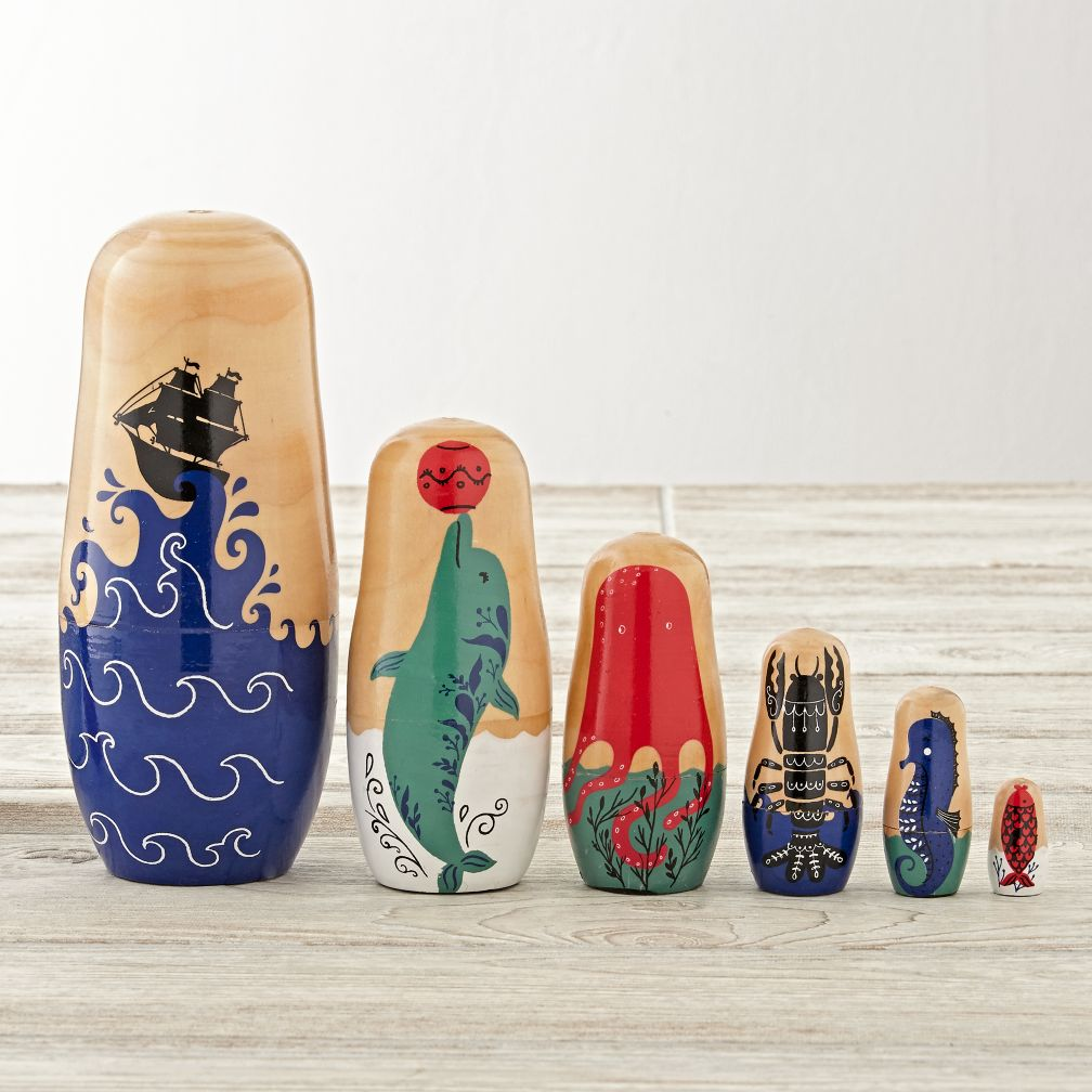 Oceanic Nesting Dolls (Set of 6)