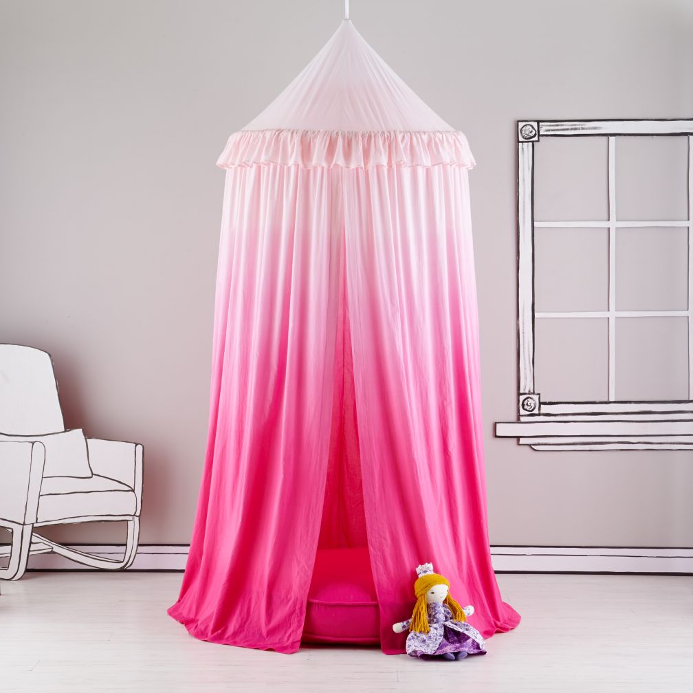 Home Sweet Play Home Canopy & Cushion  (Pink Ombre)