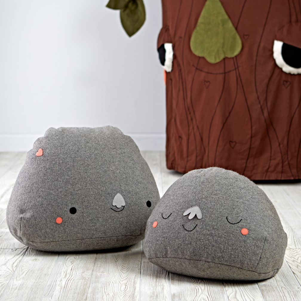 Set of 2 Boulder Buddy Poufs