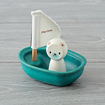 Blue Sailing Boat