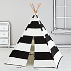Black Stripe Canvas Teepee