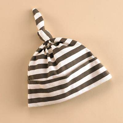 3-6 mos. Brown/White Knot Hat
