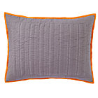 Grey Orange Welcome Jungle Quilted Sham