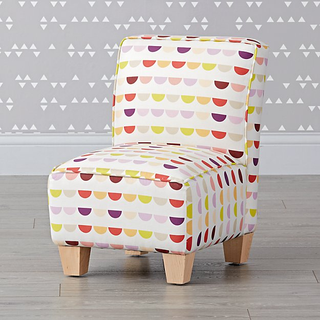 Pink Moons Petite Upholstered Chair