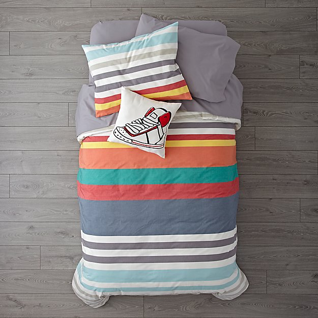 Multi-Color Striped Bedding