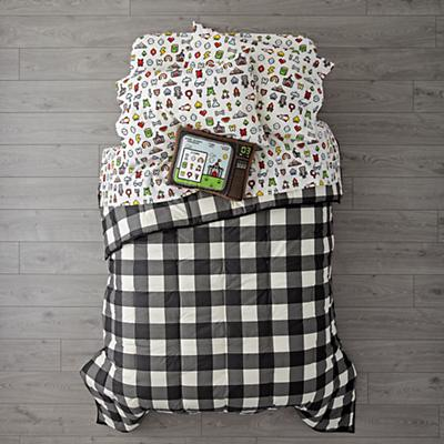 Kids_Bedding_Comforter_Buffalo_Check_Black