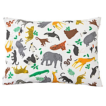 Organic Jungle Animal Pillowcase