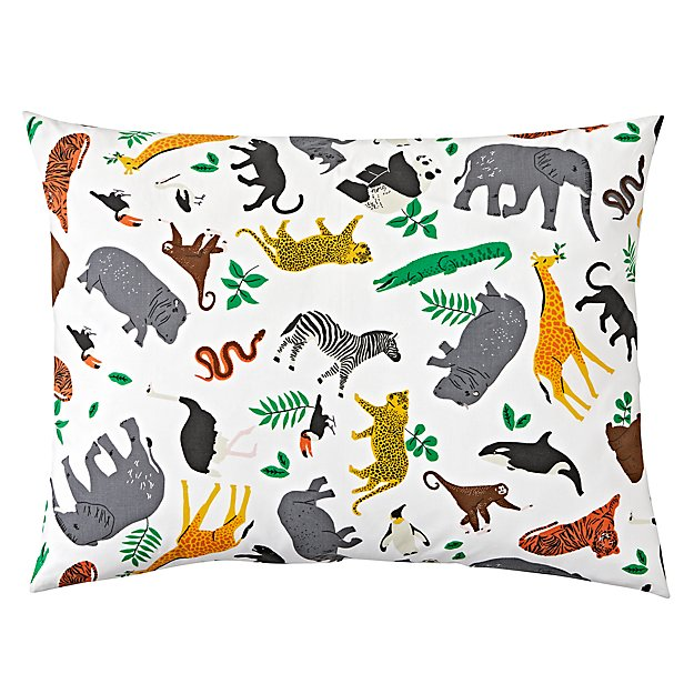 Organic Printed Jungle Animal Sham